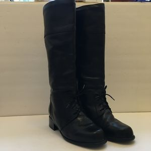 BLONDO BLACK LEATHER WATERPROOF RIDING BOOTS